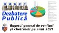 Comunicat de presă - Dezbatere publică buget local