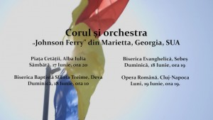 """Corul si orchestra """"Johnson Ferry"""" din Marietta, Georgia - pentru a doua oară la Alba Iulia"""